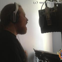 Paul Andrews recording back vocals